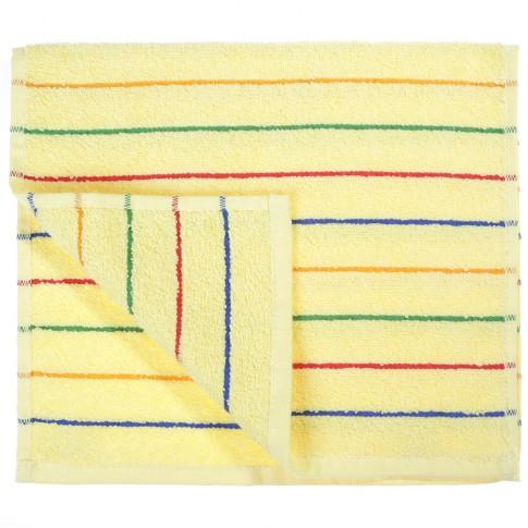 Prosop baie Studio Casa Waves, bumbac, galben, 30 x 50 cm