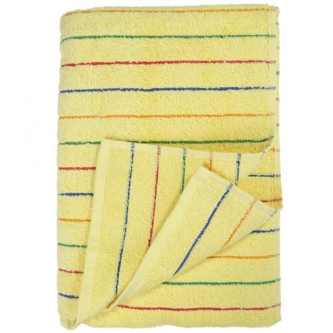 Prosop baie Studio Casa Waves, bumbac, galben, 70 x 140 cm