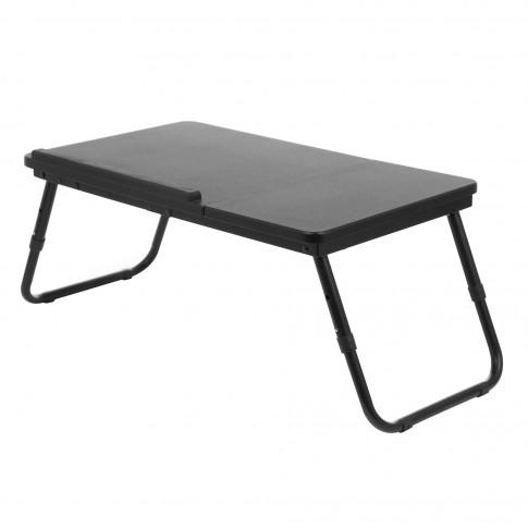 Masa pentru laptop AB1150, plianta, neagra, 60 x 35 x 27.5 cm, 1C