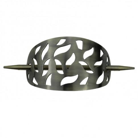 Clema decorativa cu ac TE-TB07A, aluminiu, 19.2 x 25 cm
