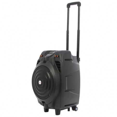Boxa portabila activa Akai SS023A-X10, 50 W RMS, Bluetooth, USB, SD card reader, Aux in, negru