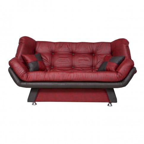 Canapea extensibila 3 locuri Lale, bordo + negru, 182 x 95 x 95 cm, 1C