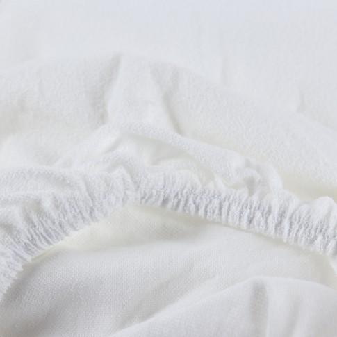 Cearceaf de pat impermeabil, alb, 140 x 200 cm