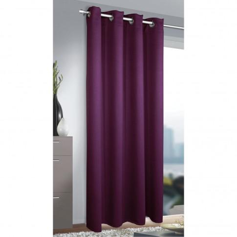 Draperie Blackout 268966, cu inele, din poliester, violet, h 245 cm, l 135 cm