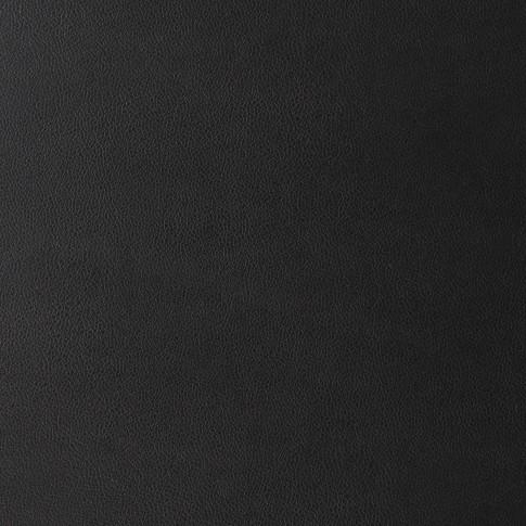 Scaun bucatarie / living fix Asia, tapitat, otel gri + imitatie piele neagra