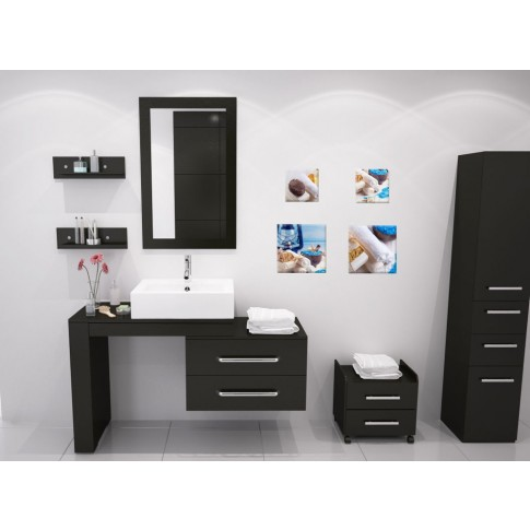Tablou, 4 piese, Spa COL008, canvas + lemn de brad, 2 piese - 30 x 30 cm + 2 piese - 20 x 20 cm