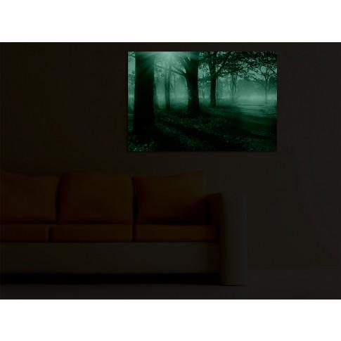 Tablou dualview DTB7292, Dimineata rosie, canvas + lemn de brad, 60 x 90 cm