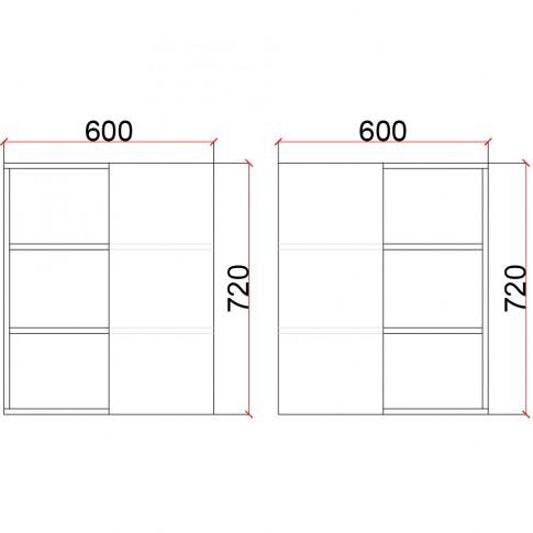 Corp superior bucatarie Martplast 1012, pe colt, furnir diverse culori, 60 x 60 x 72 cm
