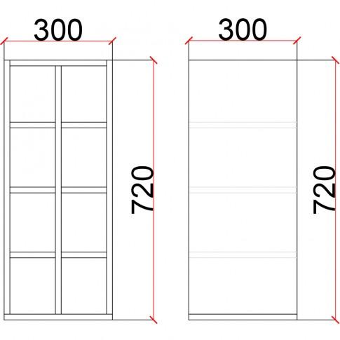Corp superior bucatarie Martplast 1015, furnir diverse culori, 30 x 30 x 72 cm