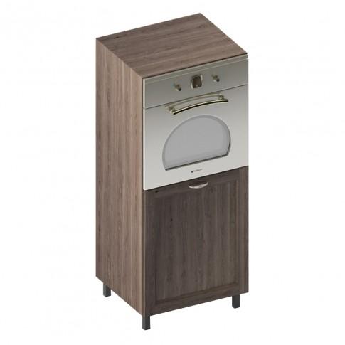Dulap bucatarie Martplast 3007, pentru cuptor, furnir diverse culori, o usa, 60 x 60 x 144 cm