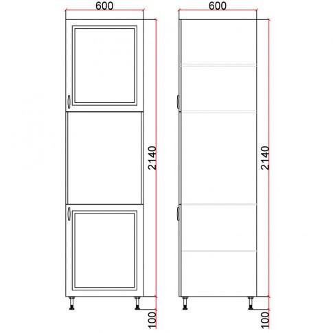 Dulap bucatarie Martplast 3008(1), pentru cuptor, furnir diverse culori, 2 usi, 60 x 60 x 214 cm