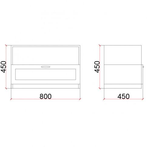 Corp inferior Valentino 800 LV12, furnir diverse culori, 80 x 45 x 45 cm, 1C