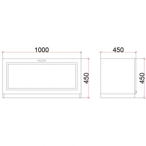 Corp inferior Valentino 1000 LV13, furnir diverse culori, 100 x 45 x 45 cm, 1C