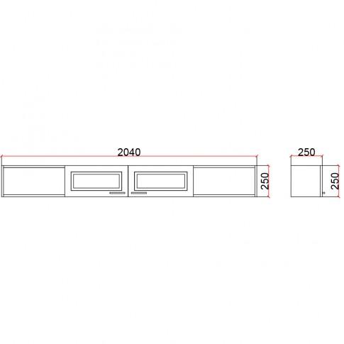 Corp suspendat camera tineret Natalia T7, cu 2 usi + rafturi, furnir diverse culori, 204 x 25 x 25 cm, 1C