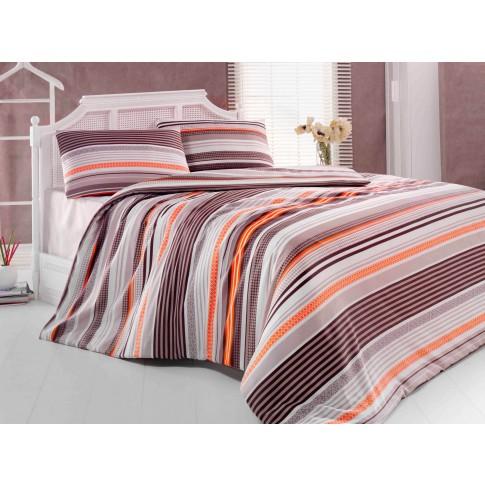 Lenjerie de pat Ares Latte, 2 persoane, policoton, 4 piese