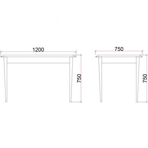 Masa bucatarie fixa Valentino LV25, dreptunghiulara, 4 persoane, furnir diverse culori, 120 x 75 x 75 cm, 1C