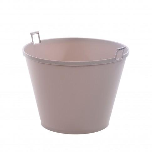 Ghiveci din plastic cu finisaj ratan sintetic Cozies Curver, suspendat, violet D 36 cm