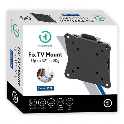 Suport TV LCD / LED, pe perete, 150 E, fix, 66 cm, 20 kg, negru