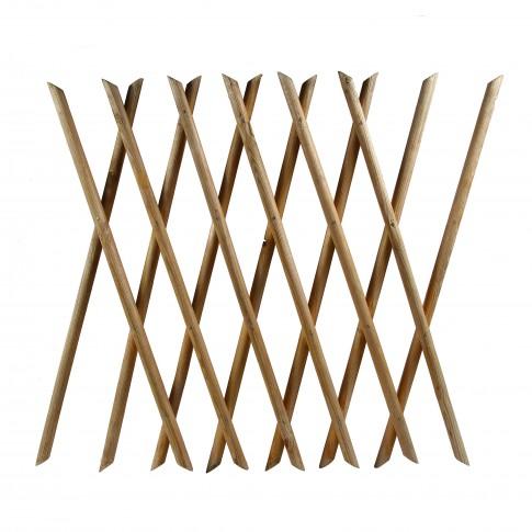 Suport pentru plante Armonica, extensibil, lemn, mahon, 85 x 200 cm
