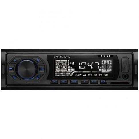 Radio MP3 player auto Akai CA014A-6246U, 4 x 7 W, 1 DIN, USB, SD / MMC, Aux in, egalizator, functie suport folder, functie de ceas