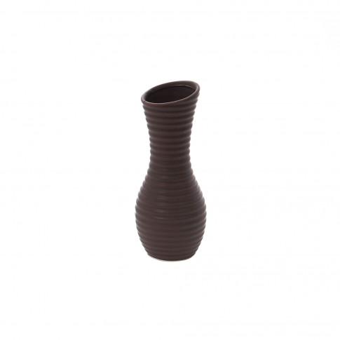 Vaza dolomita decorativa, 0581, maro, model in relief, 25.2 x 10.5 cm