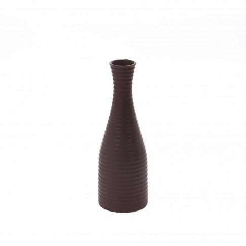 Vaza dolomita decorativa, 0588B, maro, model in relief, 30 cm