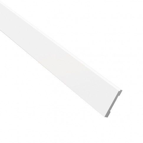 Plinta decorativa polimer dur FD 1, modern, alba, 200 x 10 x 1.5 cm