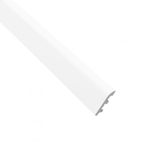 Plinta decorativa polimer dur FL5, modern, alba, 200 x 10 x 2 cm