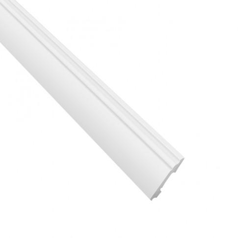 Plinta decorativa polimer dur FB2, clasic, alba, 200 x 10 x 1.3 cm