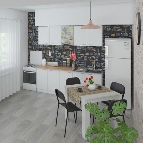 Scaun bucatarie / living fix Lucky, otel negru + PVC negru