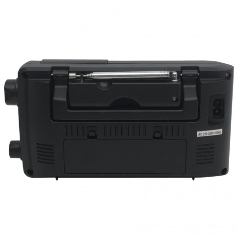 Radio FM / AM / MW / SW portabil Akai APR-2418, 0.8 W, alimentare retea sau baterii, iesire casti, ecran LCD, functie alarma, functie Sleep, functie Snooze, antena FM telescopica