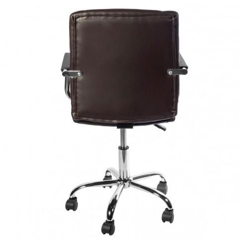Scaun birou directorial US31/ERA, rotativ, PVC, maro