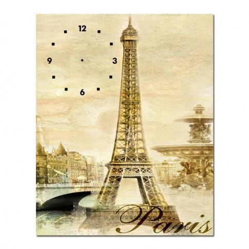 Tablou cu ceas TA13-PAC0978, Turnul Eiffel, canvas, 60 x 40 cm