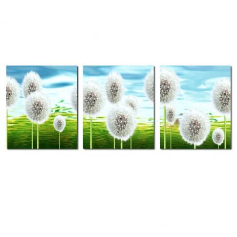 Tablou canvas 3 piese, TA16-PA07012, stil floral, 30 x 30 cm