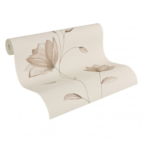 Tapet vlies, model floral, AS Creation Fioretto 2 957221, 10 x 0.53 m