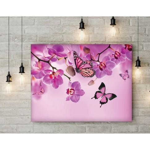 Tablou PT0188, compozitie cu flori, canvas, 45 x 60 cm