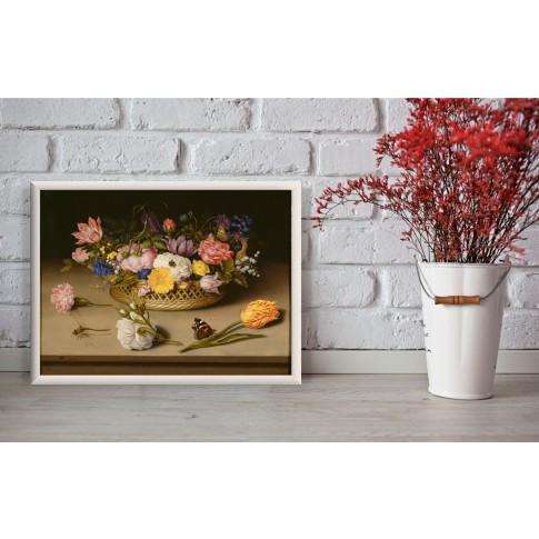 Tablou PT1376, compozitie cu flori, canvas, 45 x 60 cm