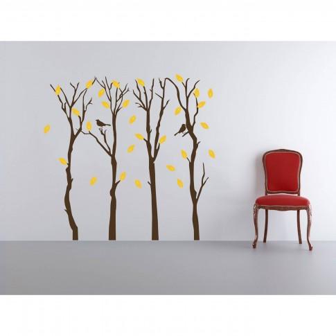 Sticker decorativ perete, camera copii/living/hol, Toamna, PT1446, 30 x 90 cm