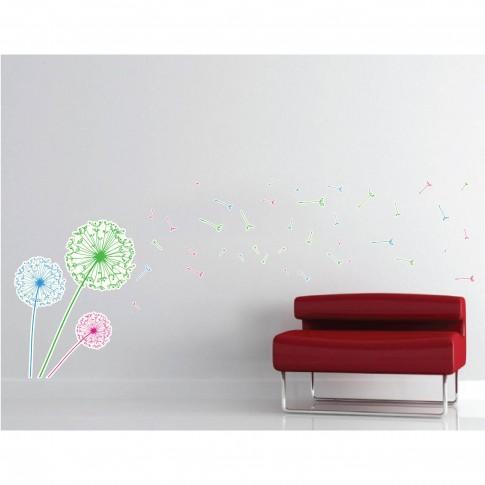 Sticker decorativ perete, camera copii / living / dormitor, Papadii, PT1453, 30 x 90 cm