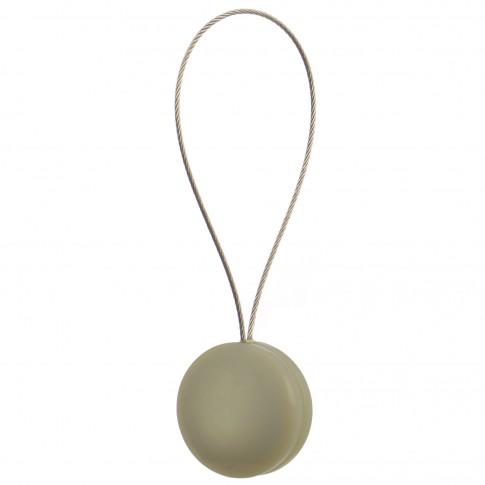 Magneti decorativi perdea si draperie, Pearls, forma rotunda, cu fir metalic de fixare, bej, 4 cm