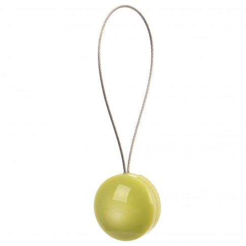 Magneti decorativi perdea si draperie, Pearls, forma rotunda, cu fir metalic de fixare, verde, 4 cm