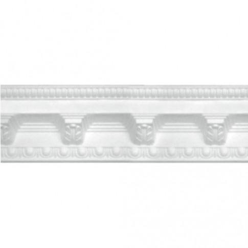 Bagheta decorativa polistiren C117 / 100, clasic, alba, 200 x 7 cm