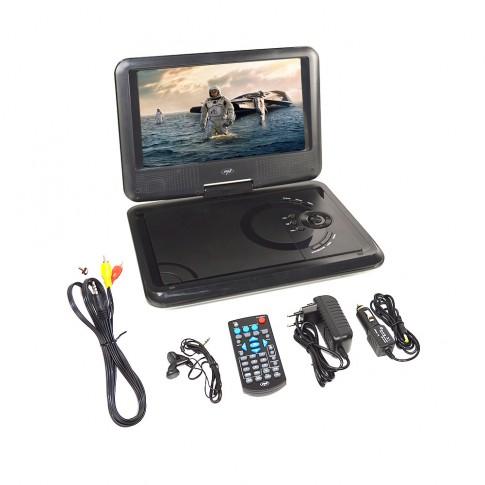 DVD player portabil PNI NS989, ecran LCD de 9 inch, slot card SD, USB, telecomanda, 25 x 18 x 4 cm