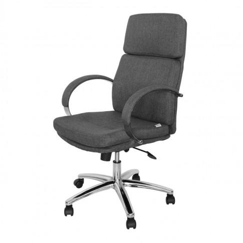 Scaun birou directorial Alpha, rotativ, material textil, gri