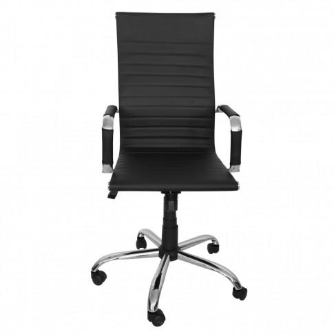 Scaun birou directorial Melia, rotativ, imitatie piele, negru