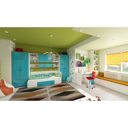 Scaun birou operational pentru copii Carnation, rotativ, mesh, rosu