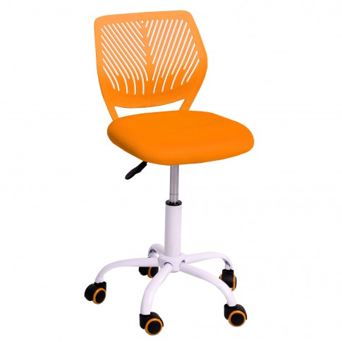 Scaun birou operational pentru copii Carnation, rotativ, mesh, portocaliu