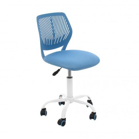 Scaun birou operational pentru copii Carnation, rotativ, mesh, albastru