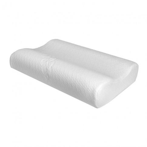 Perna pentru dormit Adormo Memory Essential, spuma cu memorie, alb, 33.5 x 48 x 10 cm