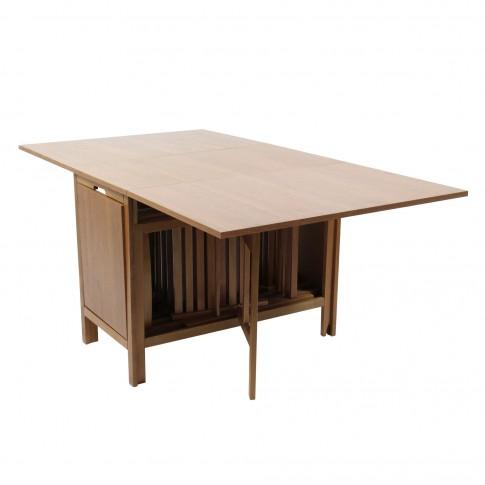 Set masa plianta cu 6 scaune 906, bucatarie, stejar, 1C